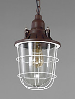 Traditional Create Single Head Glass Cage Pendant Lamp for the Living Room / Game Room Decorate Chandelier Light