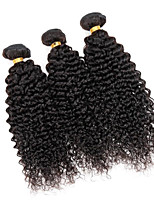 Brazilian Virgin Kinky Curly Hair Weaving Natural Black 8-26 inches 3PCS/Lot 100g/pcs Raw Unprocessed Hair Wefts