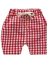 Boy's Casual/Daily Check Shorts,Cotton Fall Blue / Red