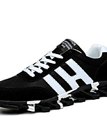 Running Shoes Men's Sneakers Spring / Fall Comfort Fabric Casual Flat Heel Black / Blue / White Walking