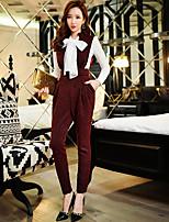 sólidos pantalones delgados de las mujeres dabuwawa, la vendimia / calle elegante / sofisticada