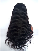 10-28 Inch Long Body Wave Brazilian Virgin Human Hair 130% Density Lace Front Wig With Baby Hair