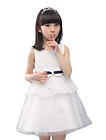 Girl's Casual/Daily Solid Dress,Others Summer White