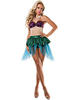 Cosplay-Feminino-Verde-Fantasias de Cosplay- comVestido / Tanga-The Little Mermaid