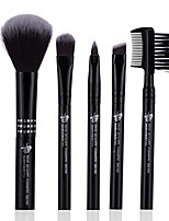 Keqi ® 5 Pcs Black Plastic Handle Artificial Hair Makeup Brushes Sets For Makeup Newbie