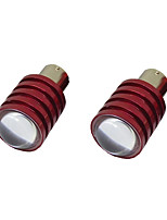 2Pcs 1156 5W LED Backup Reverse Car Light Lamp Bulb White 12V