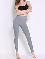 Women Solid Color Legging,Nylon / Spandex