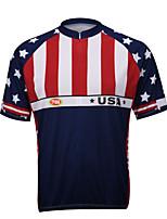 Sportivo® Maglia da ciclismo Per uomo Maniche corteTraspirante / Asciugatura rapida / Zip anteriore / Tasca posteriore / Sfregamento