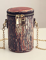 Women Casual Shopping Bark Striped Vintage Simple Fashion Chain Packet Shoulder Bucket Bags