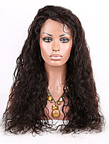 100% Human Virgin Hair Natural Color Loose Wave Wig Lace Front Cap Style With Baby Hair