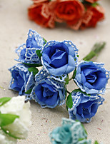 Hi-Q 1Pc Decorative Flower Hand Bouquet Roses Wedding Home Table Decoration Artificial Flowers