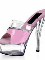 13CM Summer / Fall Heels / Platform / Slippers PVC /  Wedding / Party & Evening / Casual Stiletto Heel  /  Rhinestone