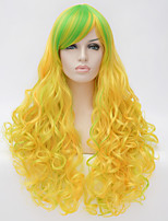 Cosplay wig wind Lolita Lolita multi color gradient wig daily  Synthetic Wigs