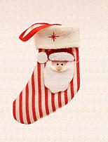 1pc Christmas Tree Decoration Stripe Santa Claus Sock Pendant Home Festival Party Supplies