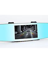 androide espejo registrador de conducción trasera de doble lente de visión nocturna de HD con un perro de navegación electrónica