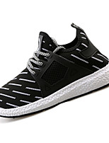 Men's Sneakers Spring / Fall Round Toe Tulle Athletic Flat Heel Others / Lace-up Black / Blue / Gray Sneaker