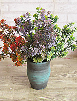1 1 Филиал Полиэстер / Пластик Pастений Букеты на стол Искусственные Цветы 14.170inch/36cm