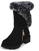 Women's Shoes Winter Platform / Fashion Boots Boots Outdoor / Office & Career / Casual Chunky Heel ZipperBlack / Brown