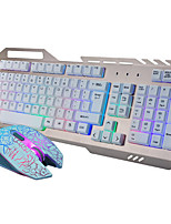 2000Dpi Wired USB Game Keyboard & Mouse Suit For Desktop With LED