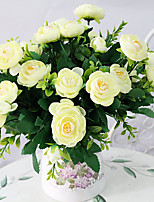 Hi-Q 1Pc Decorative Flower Camellia Wedding Home Table Decoration Artificial Flowers