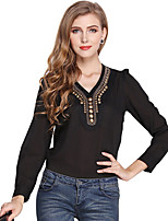 Women's V-neck Fashion Retro Blouse