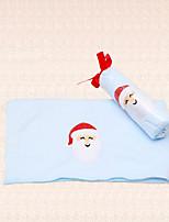 1pc Santa Claus bordado azul toalla de baño navidad microfibra ducha suministros pary
