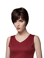 Fashionable Layered Short Straight Capless Human Hair Wigs