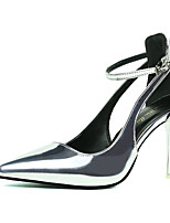 Women's Heels Summer Heels PU Office & Career Stiletto Heel Buckle Black / Red / White / Silver / Gray Others