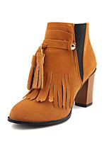 Women's Shoes Fleece Fall / Winter Fashion Boots / Bootie / Round Toe Boots Party & Evening / Dress /
