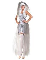 Costumes de Cosplay / Costume de Soirée Sorcier/Sorcière / Esprit / Vampire Fête / Célébration Déguisement Halloween Gris VintageRobe /