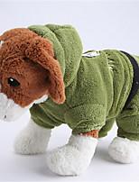 Cani Felpe con cappuccio Rosso / Verde / Blu Abbigliamento per cani Inverno / Primavera/Autunno Fantasia animale Casual Other