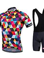 Bike Cycling Tights Padded Shorts Jersey + Bib Shorts Clothing Sets Suits Men's Unisex Short SleeveHigh Breathability