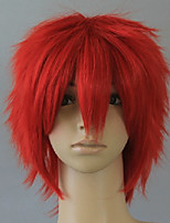 Capless Red Cosplay Wig Short Curly Synthetic Hair Wigs