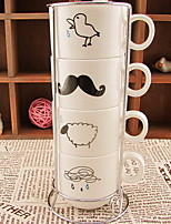 gotas de agua de Zakka comestibles retro taza de café establece a casa con una familia de cuatro pilas de taza de vitrocerámica
