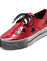 Women's Sneakers Fall Creepers / Round Toe PU Casual Platform Lace-up Black / Red / Silver Others