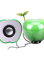 Manufacturers Sell Half Apple Colorful Light USB Mini Car Speakers,Crystal Apple Color Dazzle Light USB Car Speaker