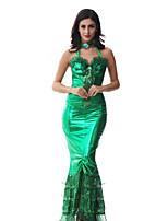 Costumes Mermaid Tail Halloween / Christmas / Carnival / Oktoberfest / Children's Day / New Year Green Vintage Dress