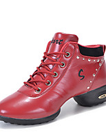 Non Customizable Women's Dance Shoes / Modern Boots / Sneakers Low Heel Practice / Outdoor Black