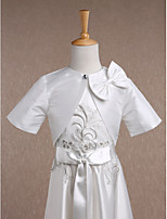 Kids' Wraps Shrugs Half-Sleeve Taffeta Ivory Wedding / Party/Evening / Casual Scoop 34cm Bow Nylon Fastener Tape