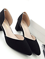 Women's Heels Spring / Summer / Fall Heels Fleece Casual Chunky Heel Others Black / Pink / Gray Others