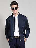 Men's Long Sleeve Casual / Work / Formal Jacket,Polyester Solid Black / Blue / Yellow