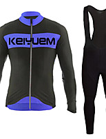 KEIYUEM®Spring/Summer/Autumn Long Sleeve Cycling Jersey+Long Bib Tights Ropa Ciclismo Cycling Clothing Suits #L77