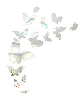 3D Butterfly Wall Stickers Plane Wall Stickers / Mirror Wall Stickers ,30Pcs/Set Wall Stickers Acrylic Decals Home Decor