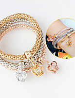 Bracelet Charm Bracelet Alloy Crown Fashion Jewelry Gift Gold / Silver,1set