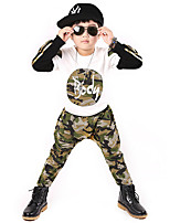 Boy's Cotton Spring/Autumn Fashion Camouflage Sport Suit Long Sleeve Shirt And Pants Tracksuit Print Two-piece Set