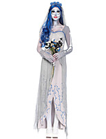 Cosplay Costumes Ghost / Zombie Movie Cosplay White Solid Dress / Headpiece / Gloves Halloween / Christmas / New Year Female Terylene