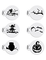 6pcs Halloween Stencils Template Cookie Stencil Set Cake Decorating Stencils Fondant Cupcake Design Stencil ST-914
