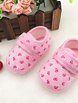 Boy's / Girl's Flats Spring / Summer / Fall First Walkers / Round Toe Fleece Casual Blue / Yellow / Pink