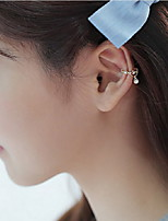 Earring Oval Jewelry Women Fashion Daily / Casual Alloy 1 pair Gold