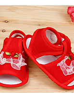 Girl's Sandals Summer Sandals Cotton Outdoor Flat Heel Tassel Blue / Pink / Red Others